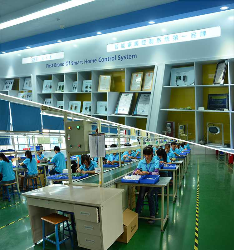 China RF remote control manufacturer office environment and products.