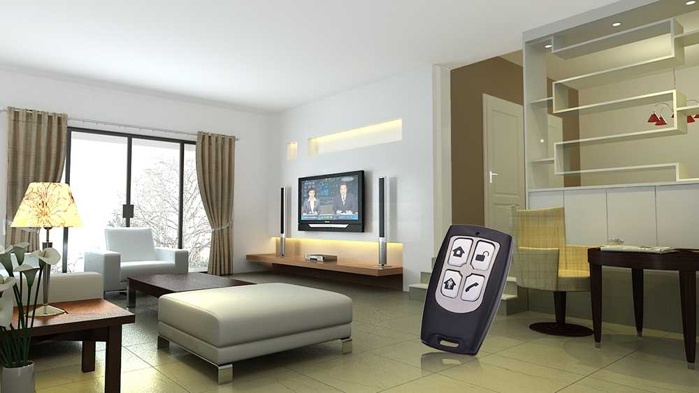 Wireless RF remote control can control smart home.