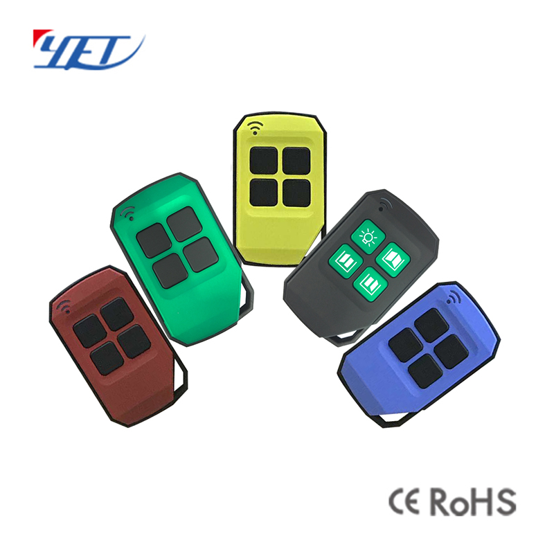 Multiple colors universal wireless RF remote control.