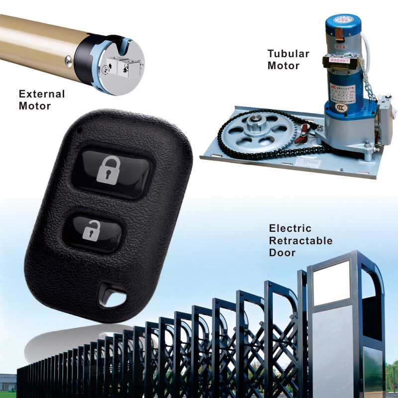 Electric door remote control can control sliding door.