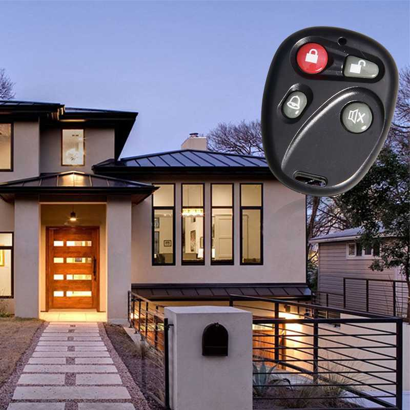 Smart home system wireless RF remote control can control home automatic door.