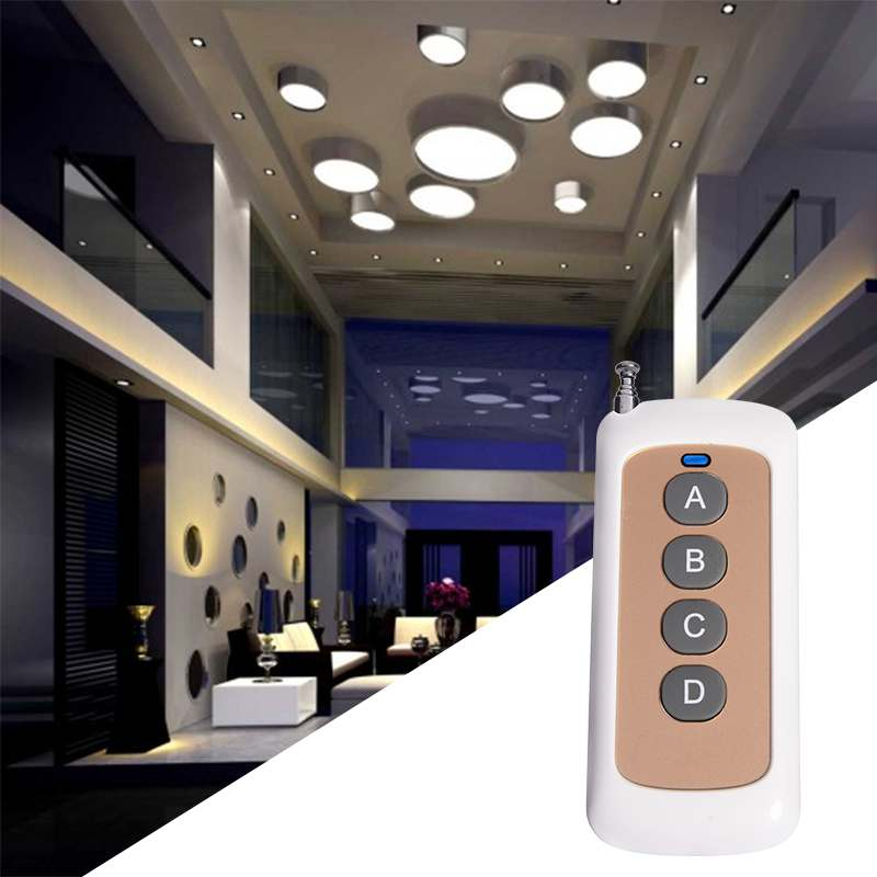 High power and long distance RF wireless transmitter can control light strips.