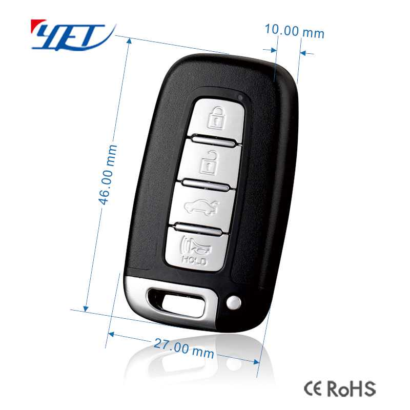 Mini key wireless rf remote control size.