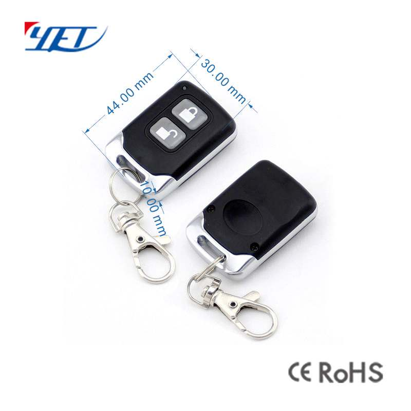 Two keys wireless remote control size.