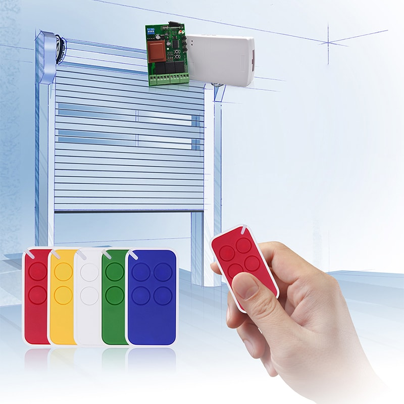 4-button mini plastic wireless colorful remote control YET2112-4 can control roller shutter.