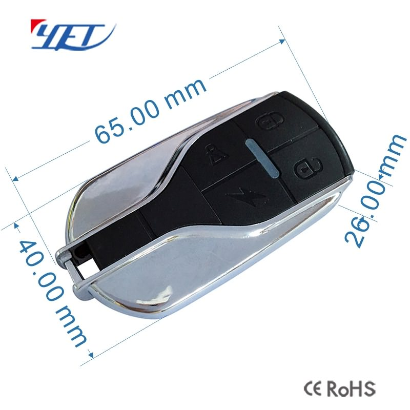 ,Reel gate remote controller size.