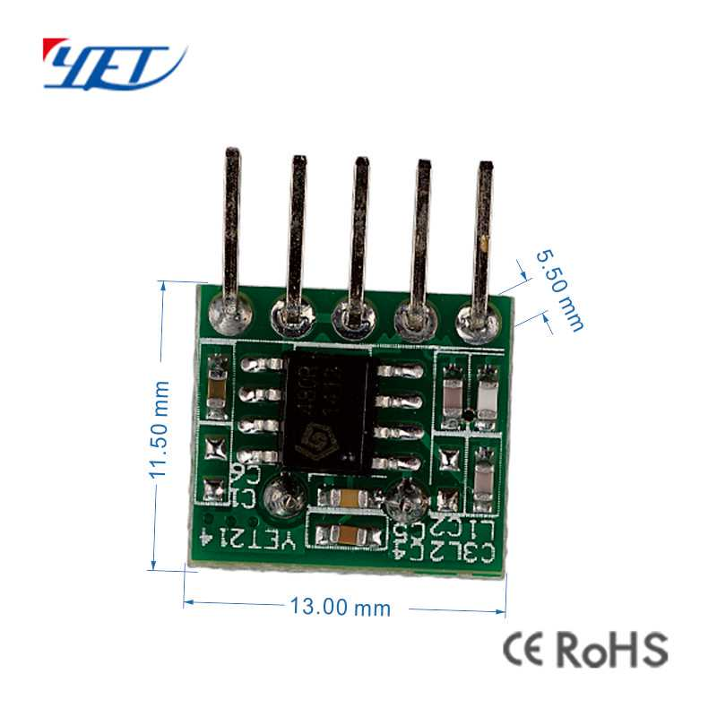 ASK superheterodyne wireless RF receiver module size.