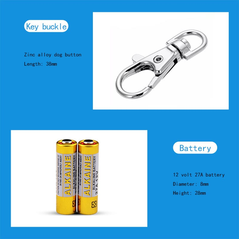 The battery and keychain for the automatic door long distance remote control.