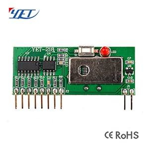 ASK Superheterodyne Wireless RF Receiver Module YET218