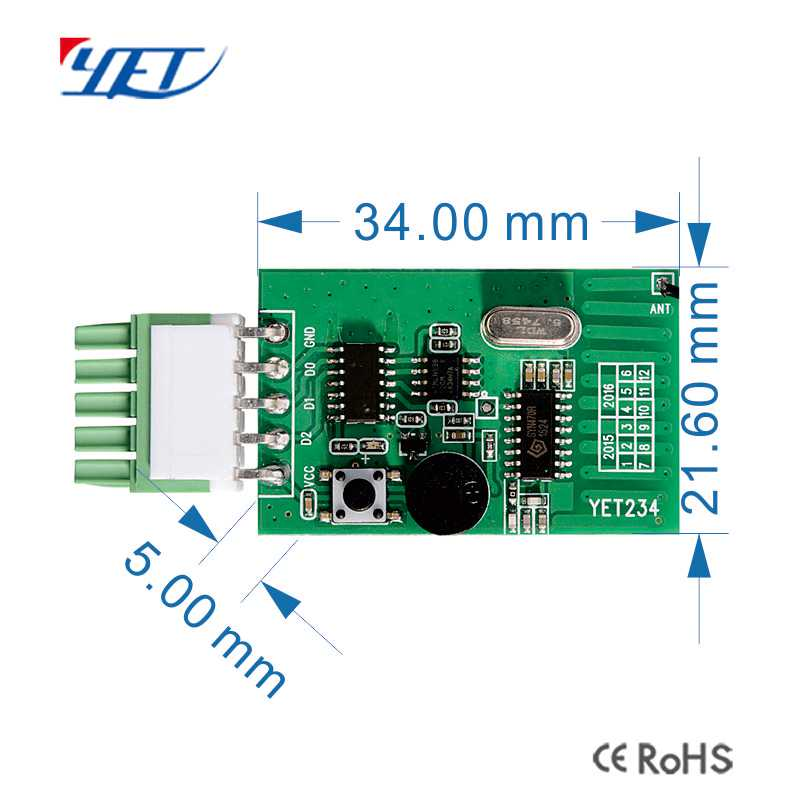 rf wireless transceiver module size.