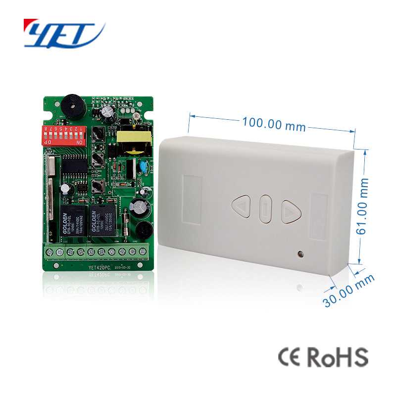 2-channel receiver with long range of voltage size.