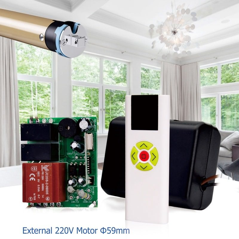 Wireless multi-channel remote control can control roller shutter.
