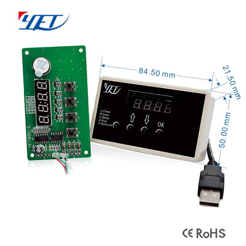Four-channel Universal remote control factory YET electric door wireless controller size.