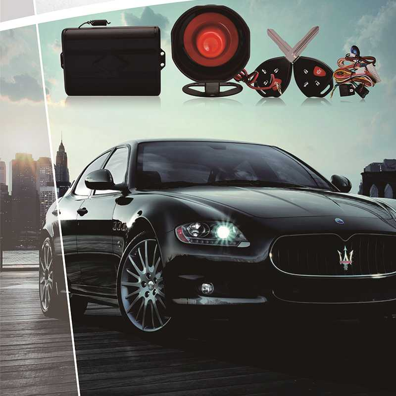 Universal car alarm system kit.