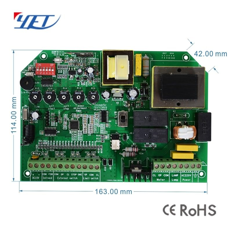 sliding door wireless controller motor controller size.