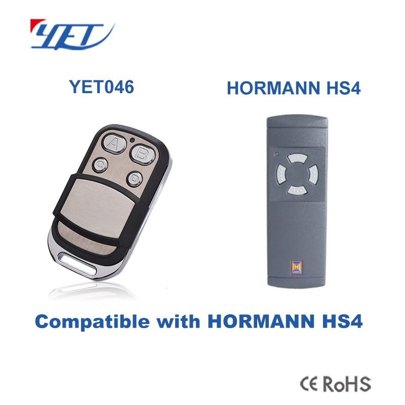 RF transmitter YET046 compatible with HORMANN HS4.