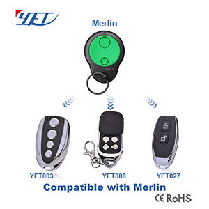 Wireless remote controller switch compatible with MERLIN