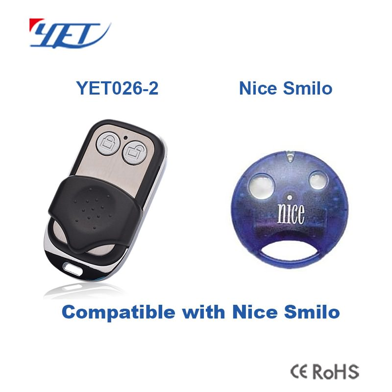 compatible remote control YET026-2 can match Nice Smilo.