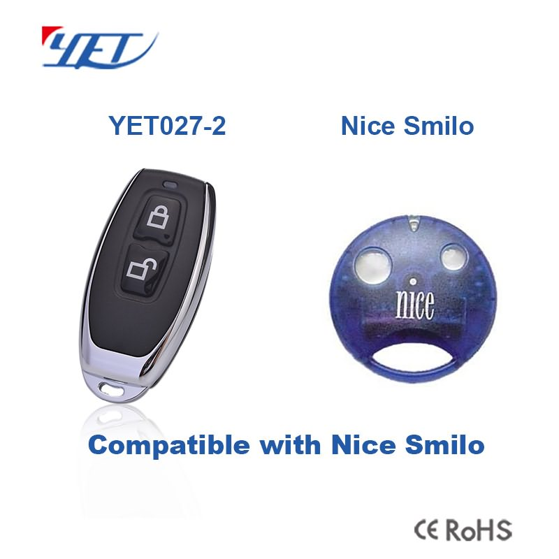 compatible remote control YET027-2 can match Nice Smilo