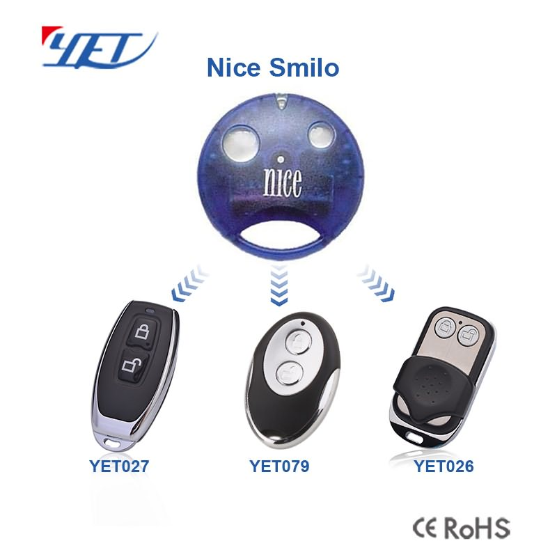 there are 3 compatible remote control switches that match Nice Smilo.