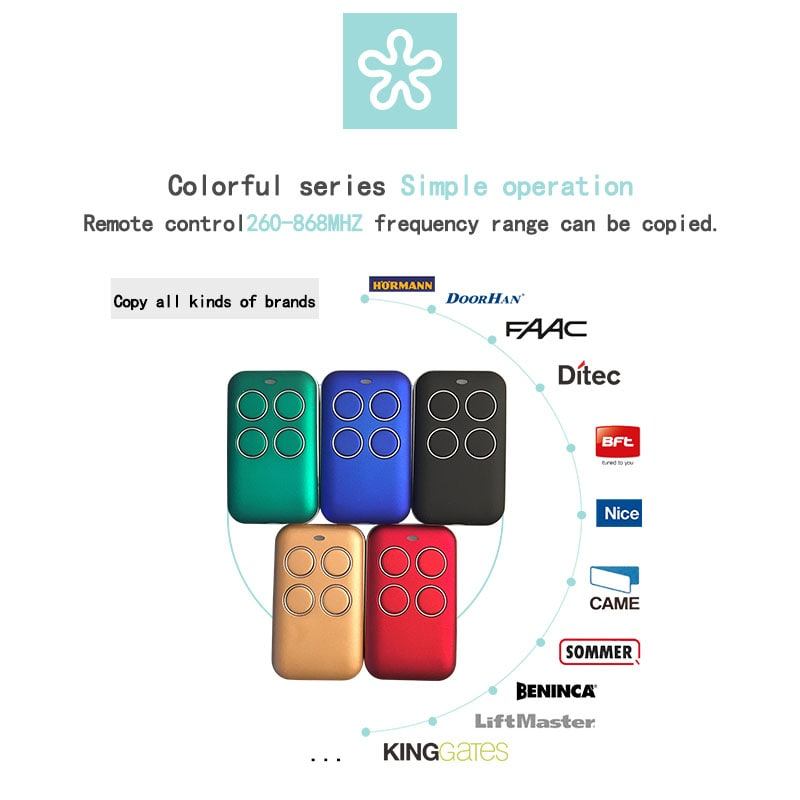 Multi-frequency remote control duplicator can copy more than 10 brands of remote controls.