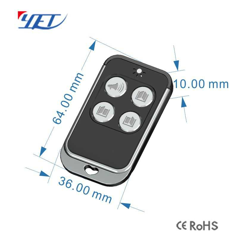 rf remote control wireless long distance remote size.