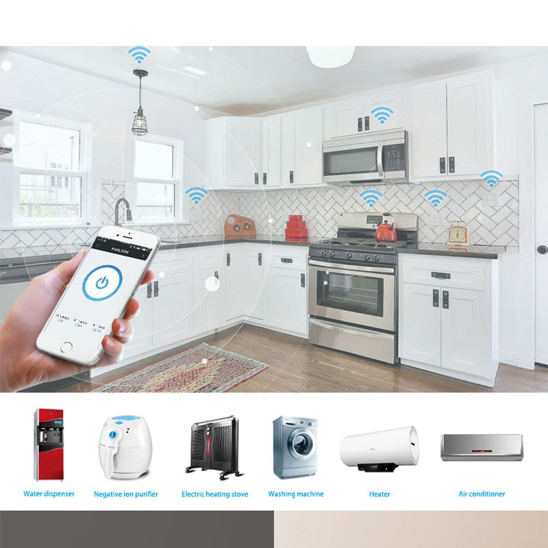 universal WIFI smart plug is suitable for any home appliance.