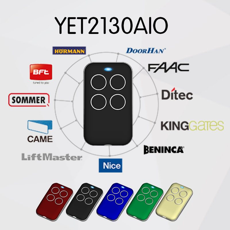 Multi frequency remote control duplicator can copy many brands of remote controls.