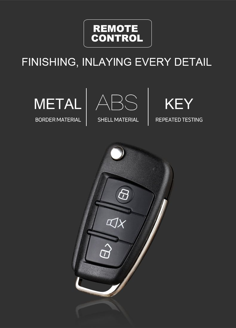 Universal 3 buttons car key RF remote control.