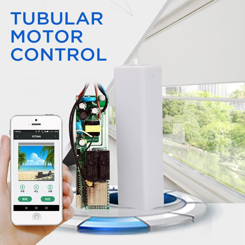 smart built-in tubular motor electric roller shutter WiFi controller.