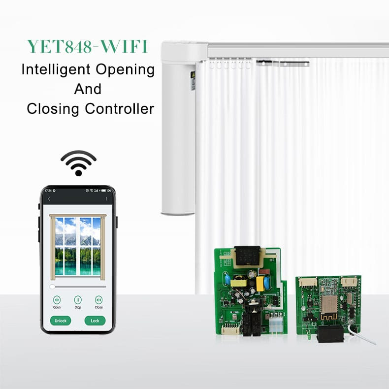 a full set of tubular motor electric curtain WIFI controller.