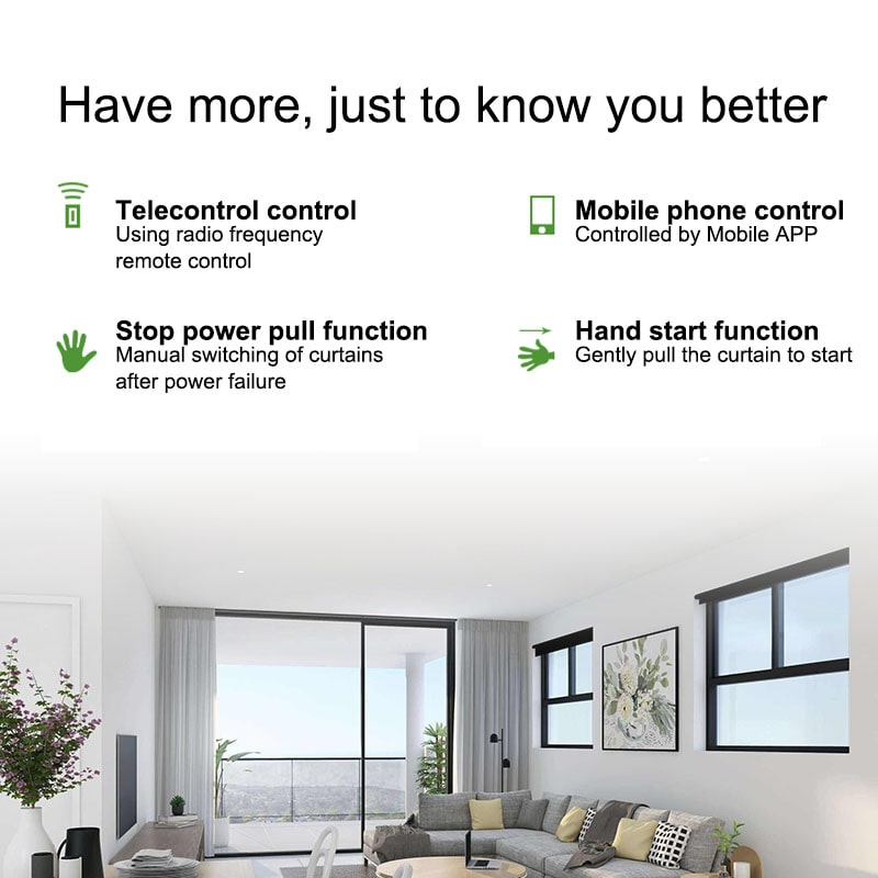 tubular motor electric curtain WIFI controller has many function.