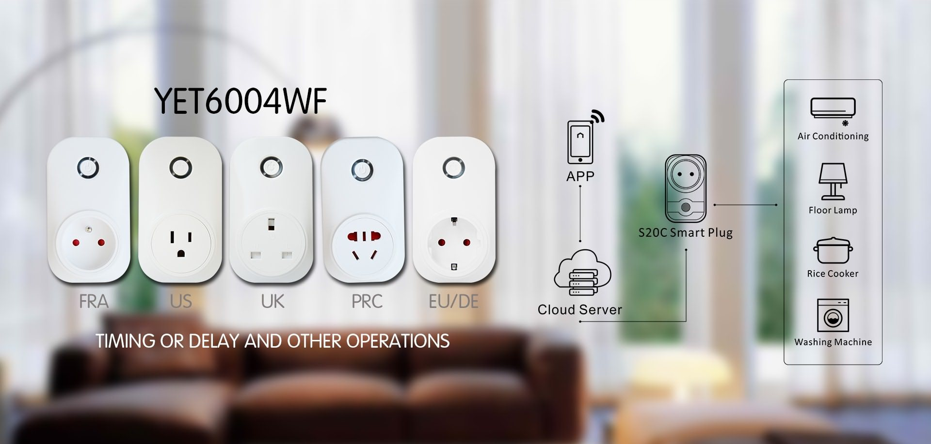 Universal WIFI smart plug application.