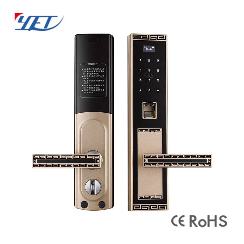 Smart fingerprint door lock details.
