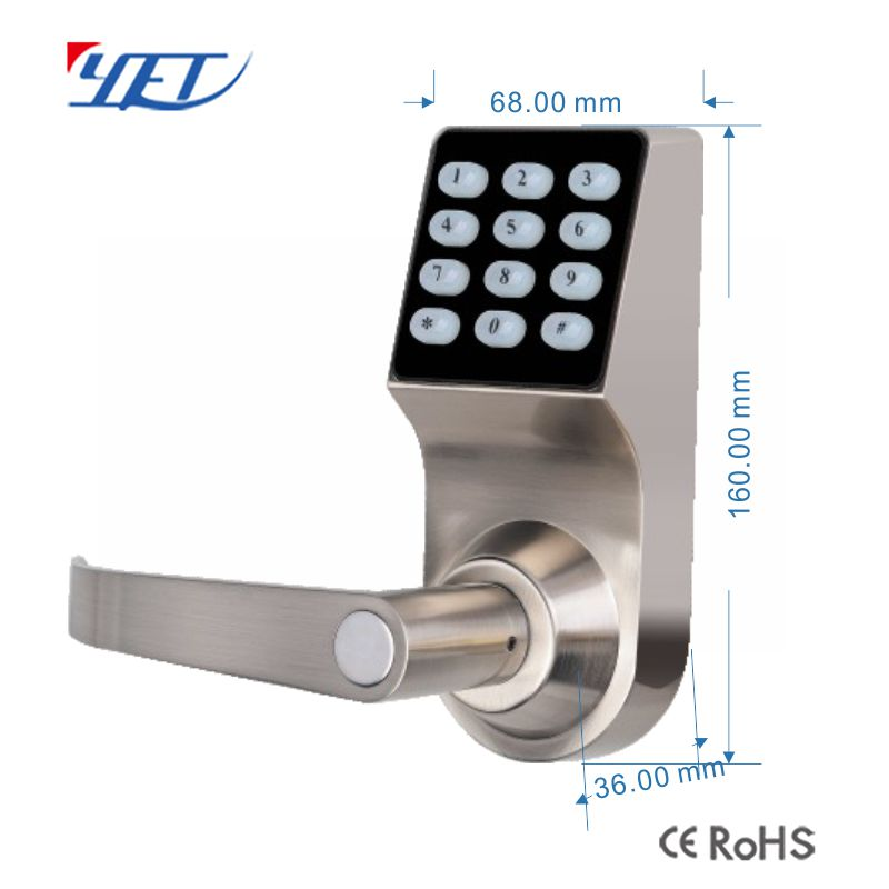 fingerprint password smart door lock size