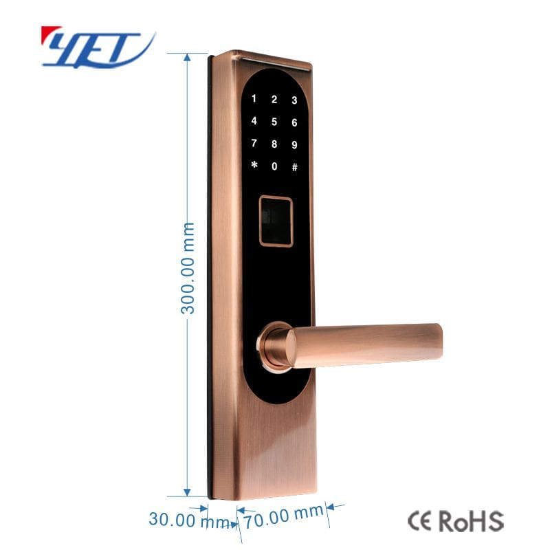 Smart Fingerprint Door Lock size