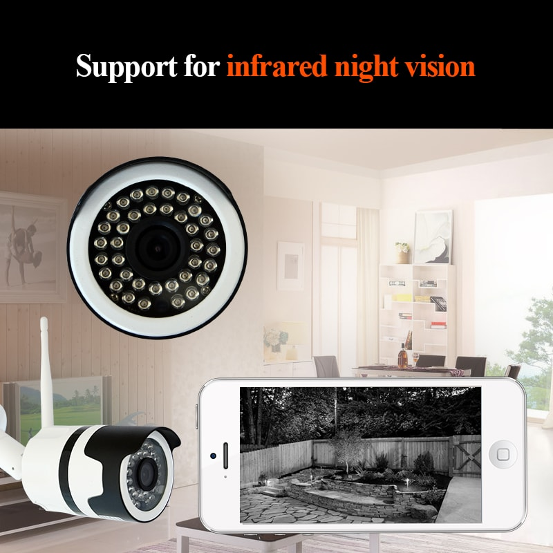 WiFi waterproof IP camera can can monitor every move of the home