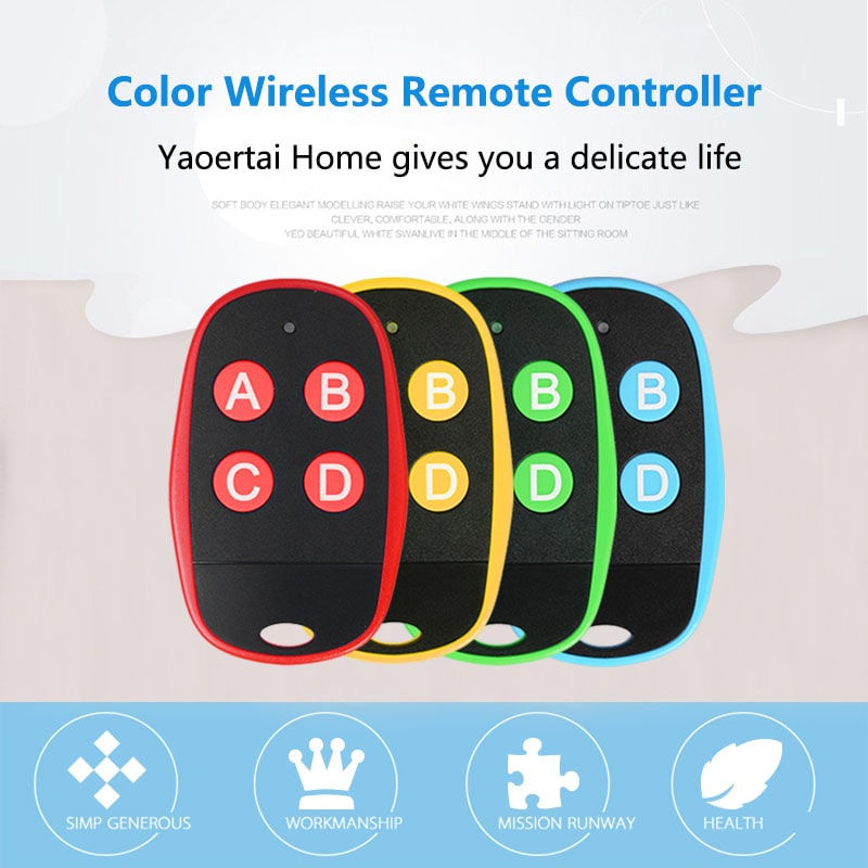 Plastic universal color wireless new remote control duplicator has 4 colors.