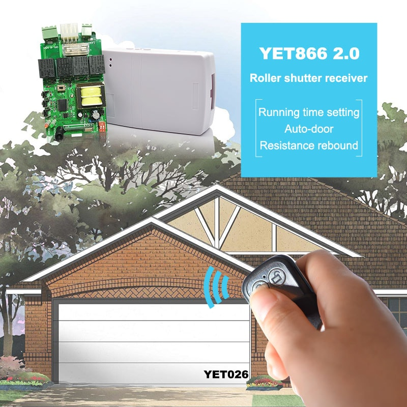 garage door controller can be controlled by remote control
