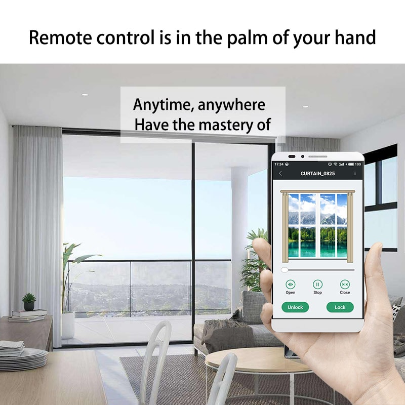 Electric curtain wifi controller can be controlled by mobile phone.