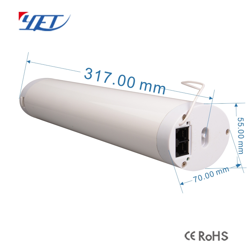 Electric curtain wifi controller size.