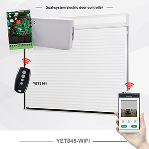 The work process and function description of Yaoertai YET845 rolling door wireless motor controller