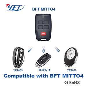 433mhz BFT compatible remote control for smart home