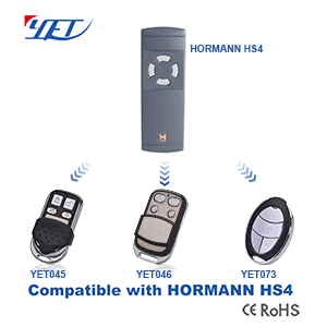 3 compatible remote controls compatible with HORMANN HS4