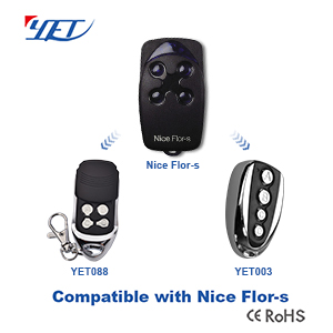 YET products three compatible remote controls that match NICE FLOR