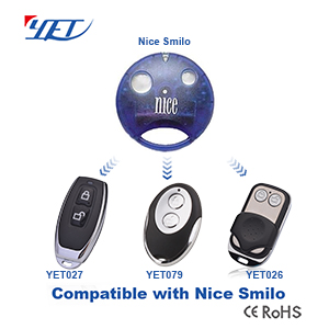 Three wireless remote control switches compatible with NICE SMILO